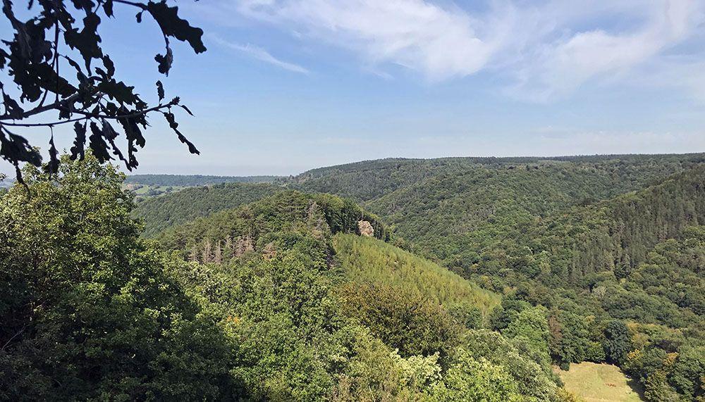 Uitzichtpunt bij wandeling van de Ninglinspo