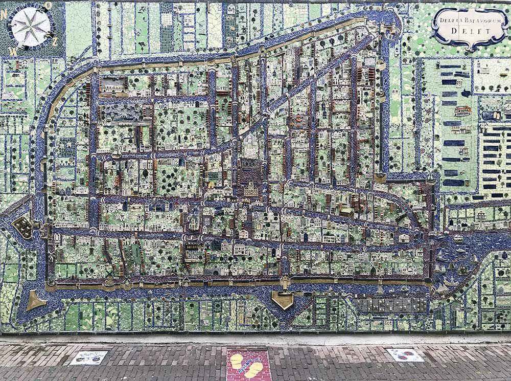 Stadsplattegrond van Delft in de Gouden Eeuw
