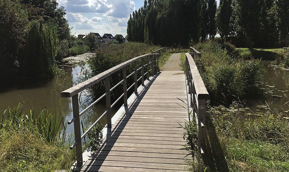 een van vele bruggen in Vleuten
