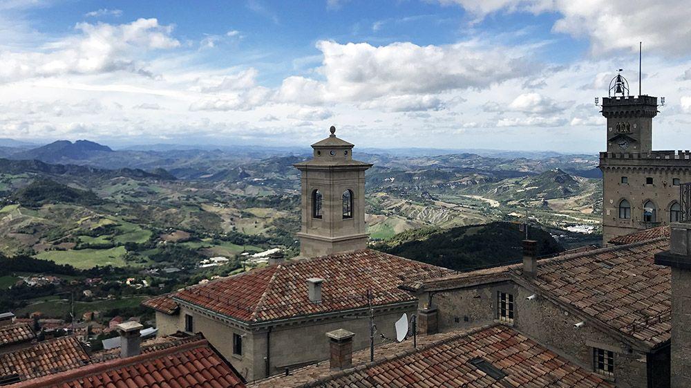 het stadje San Marino