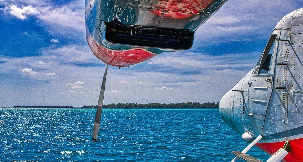 Watervliegtuig op de Malediven