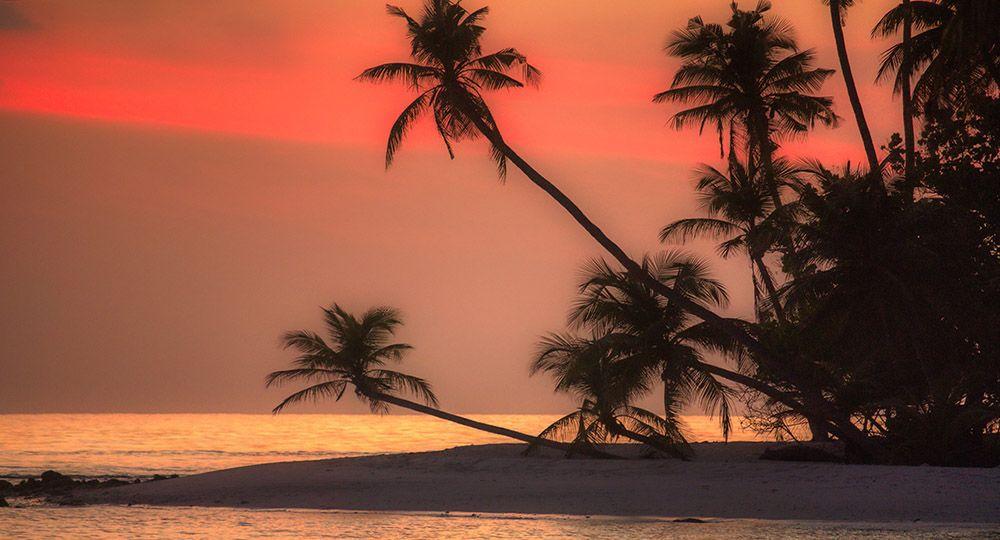 Zonsondergang op de Malediven