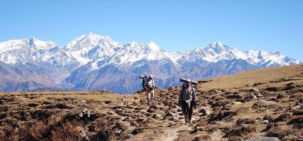 Trekking door de Himalaya