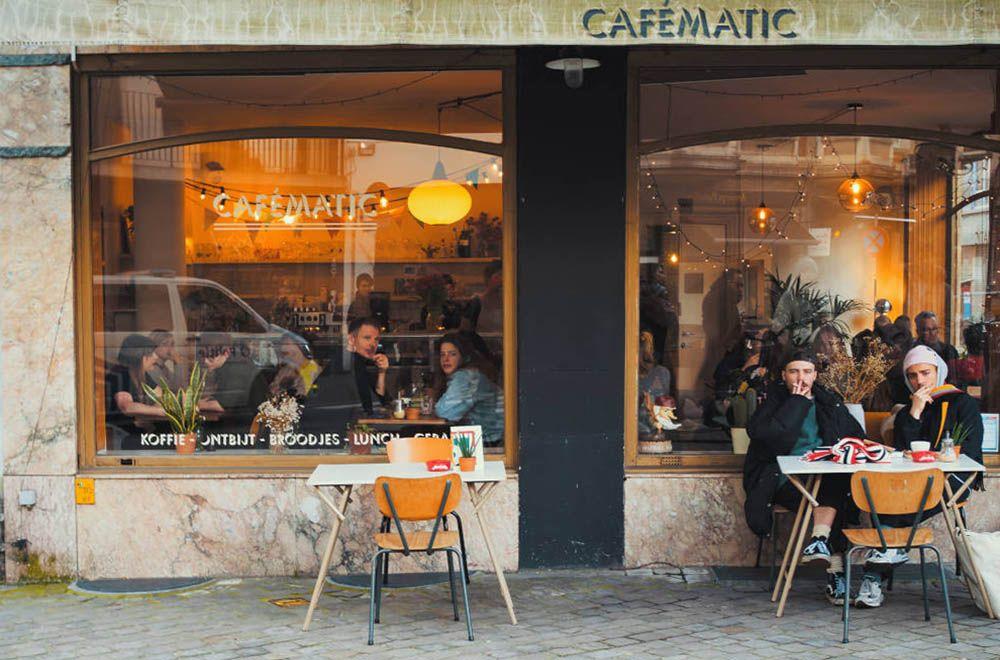 Café in Antwerpen, België