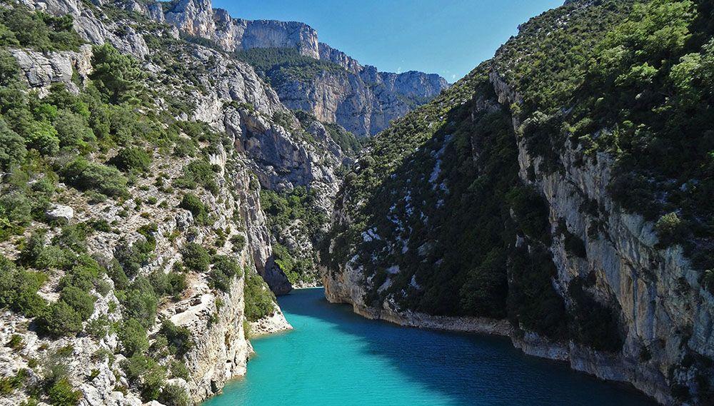 Gorge du Verdon in Frankrijk is een toeristische trekpleister