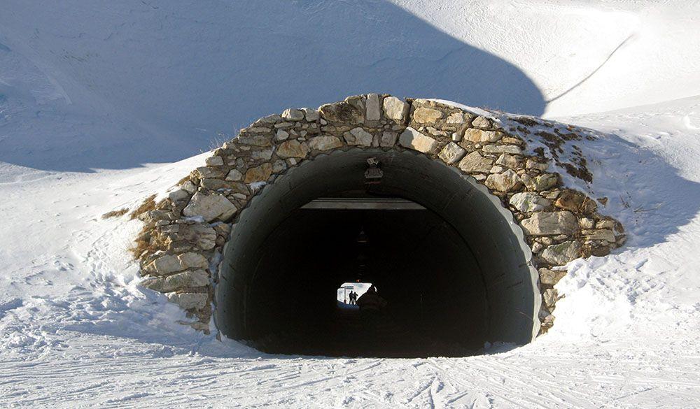 Het skigebied van La Plagne is zeer gevarieerd.