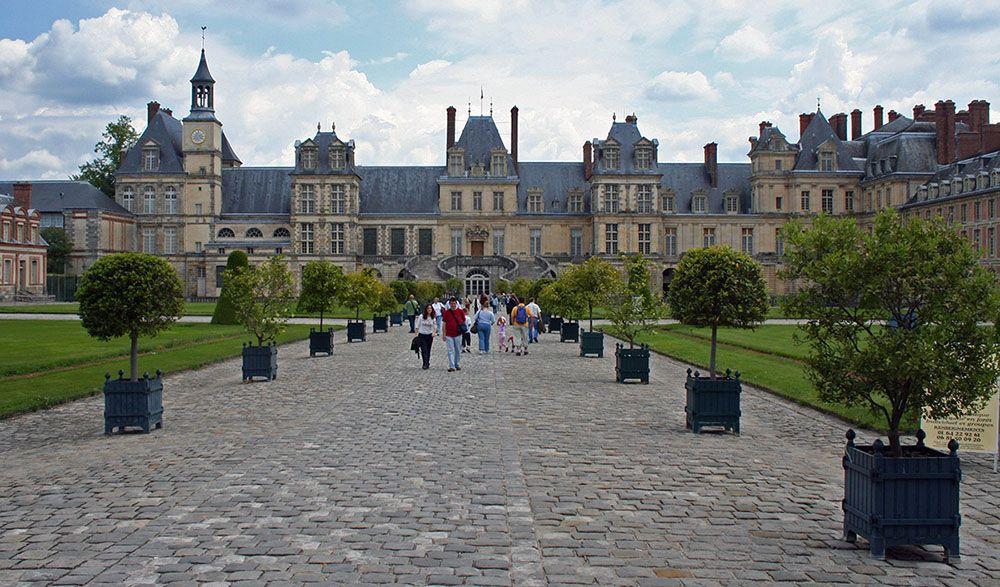 Grote tuin en kasteel langs de Loire.