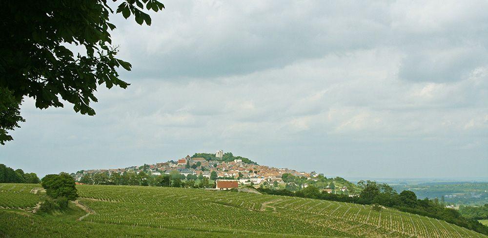 Glooiend landschap langs de Loire.