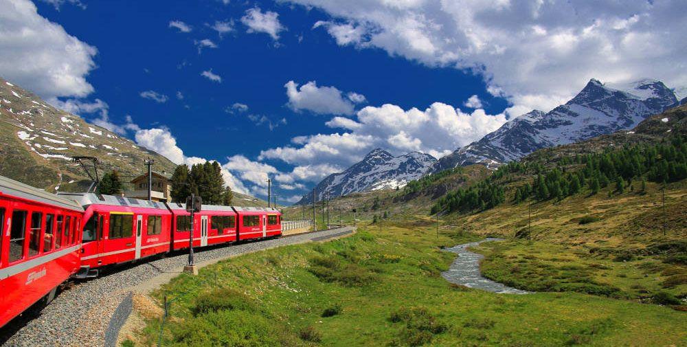 Treinreis door Zwitserland