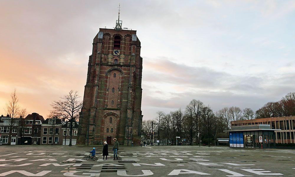 Oldehove, de scheve toren in Leeuwarden