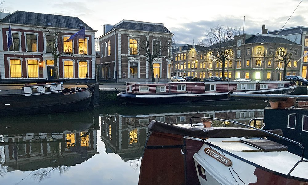 Woonboten in Leeuwarden