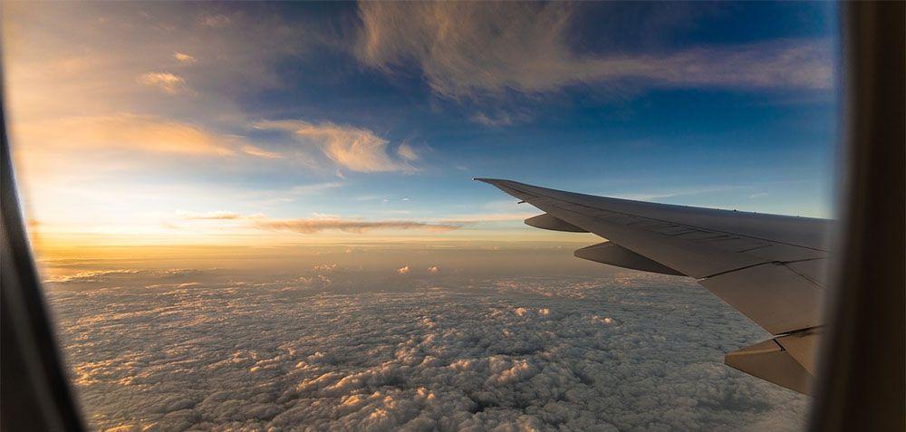 Uitzicht op een mooi wolkendek