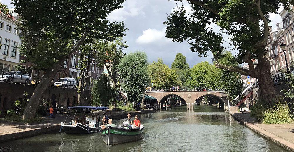 Varen door de grachten van Utrecht