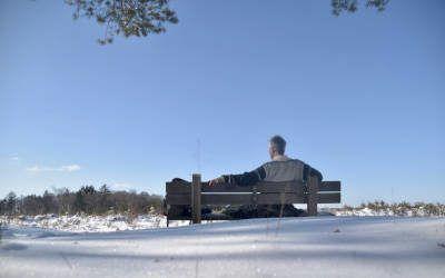 Wandeling op de Ginkelse heide en de Sysselt in de winter