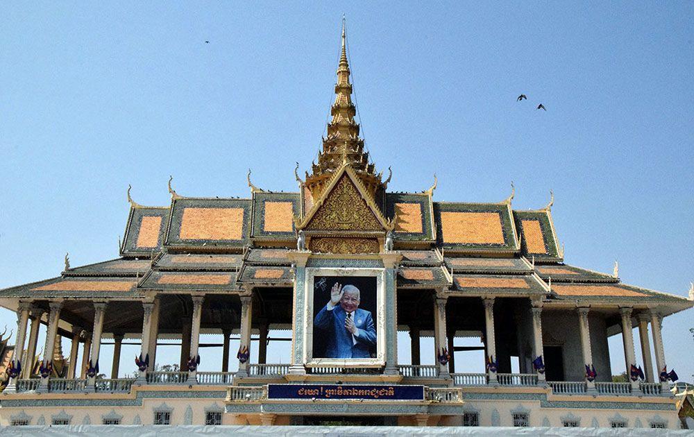 Koninklijk Paleis in Phnom Pehn, Cambodja.