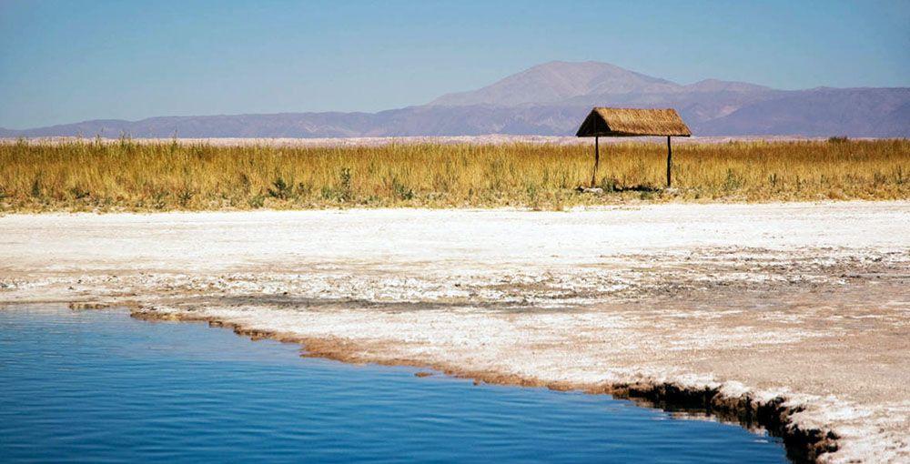 Zoutmeer in de omgeving van San Pedro de Atacama.