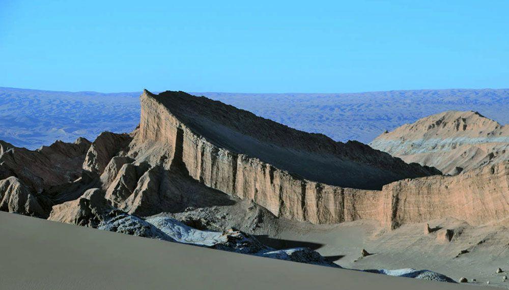 Rotsformatie in het imponerende Valle de la Luna.