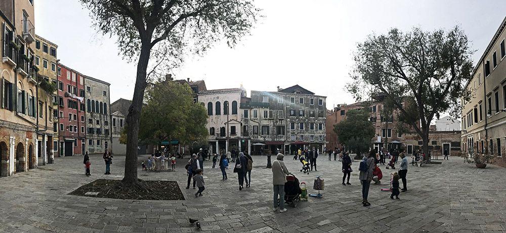 De oude getto van Venetië