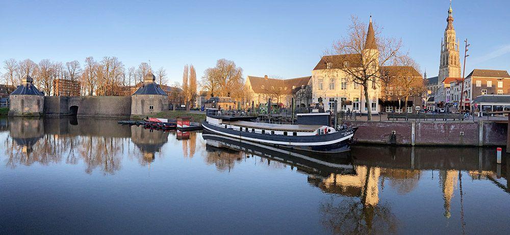 De historische haven van Breda