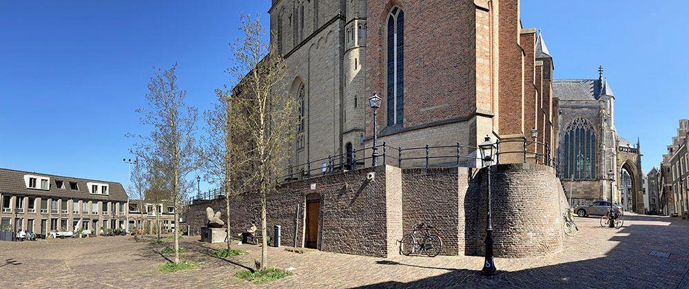 Bij de Stevenskerk in Nijmegen