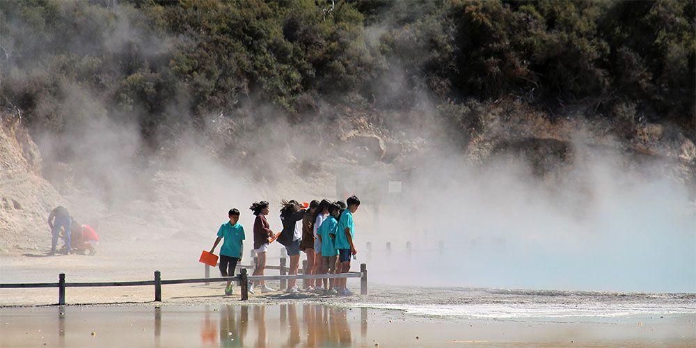 Rotorua op het Noordereiland van Nieuw-Zeeland