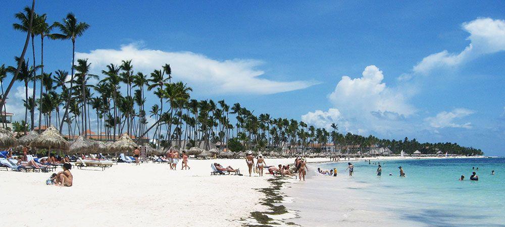 Beach resort aan het strand van Punta Cana, Dominicaanse Republiek