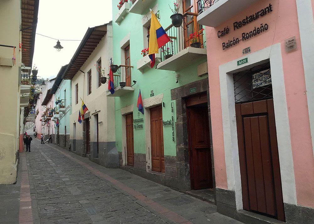 La Ronda is een mooie straat in Quito