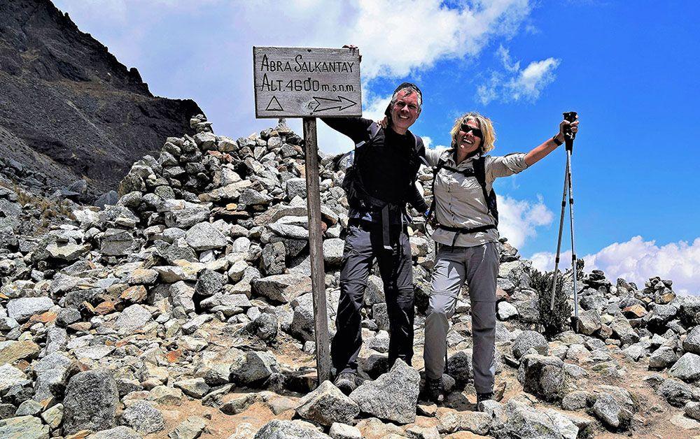 De Salkantay Pas ligt op 4600 meter hoogte. Dat kan hoogteziekte opleveren.