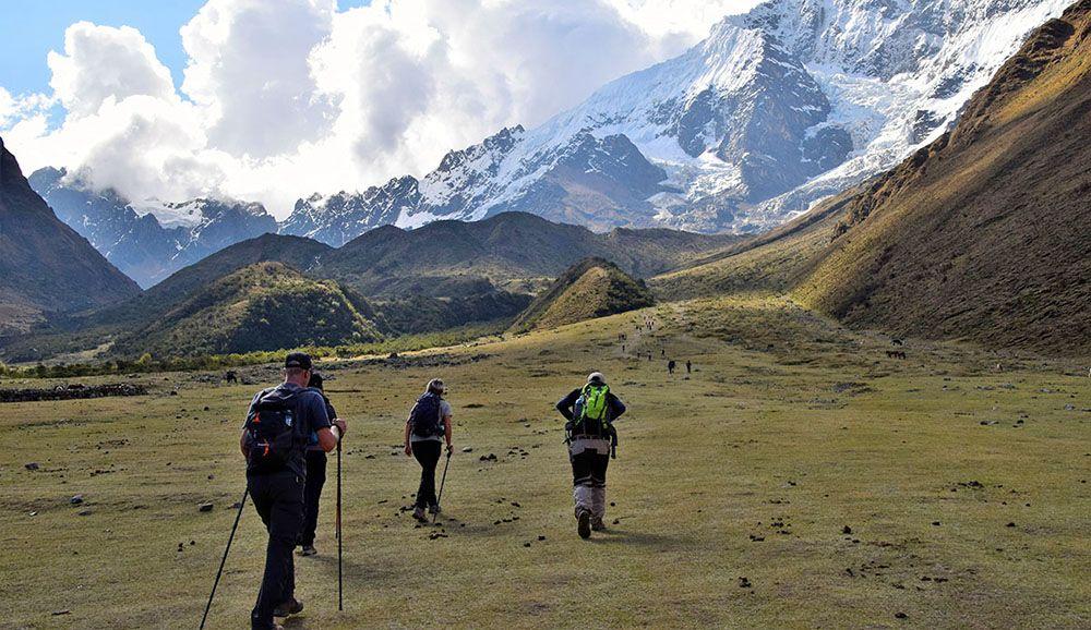 Het uitzicht bij de Salkantay Trail is fenomenaal