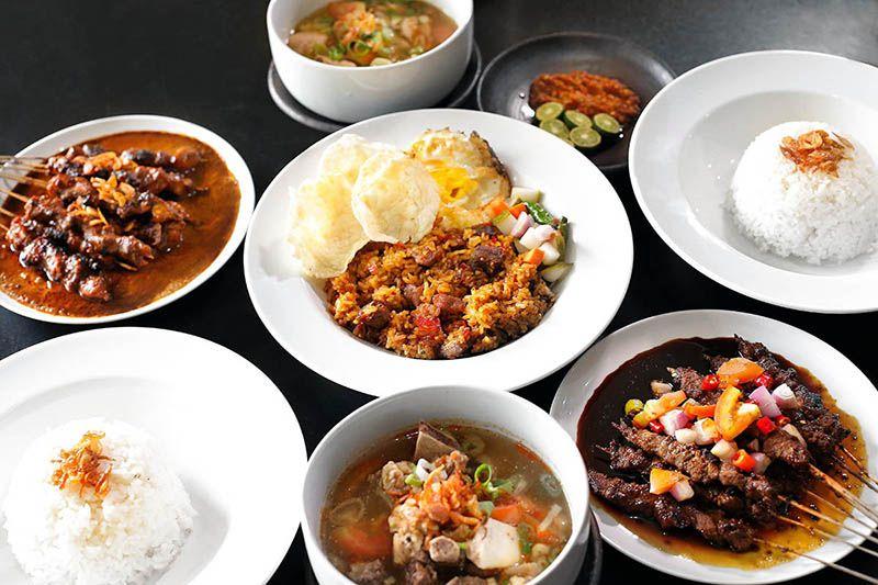 Het eten in Indonesië is heerlijk.