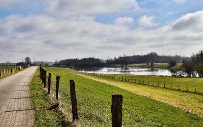 Fietstocht langs de Rijn, een grensoverschrijdende fietsroute