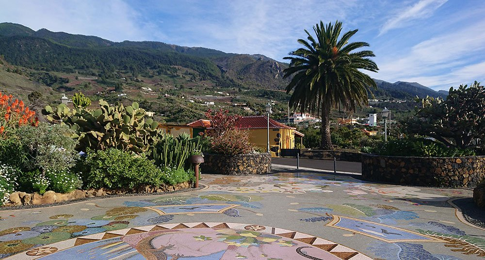 Pleintje ergens op La Palma