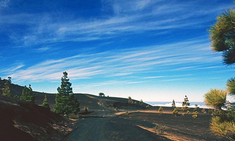 vulkanisch landschap van La Palma