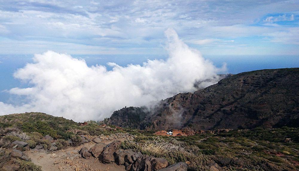 Wandelpad in de bergen van La Palma