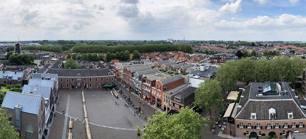 Uitzicht vanaf de Petrustoren in Woerden
