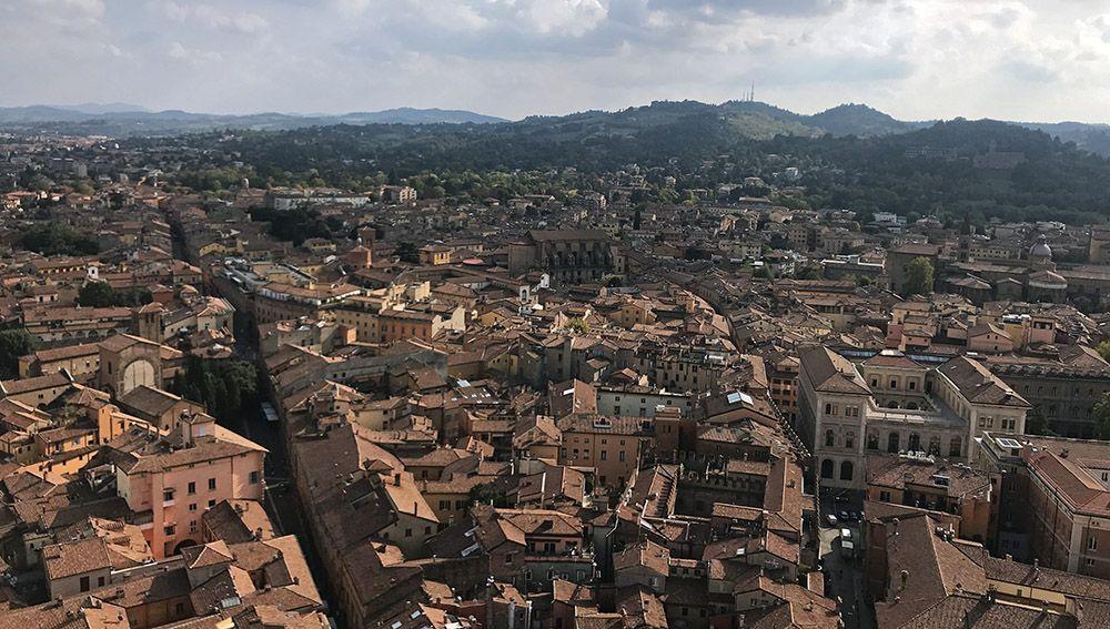 Uitzicht vanaf de Asinelli toren
