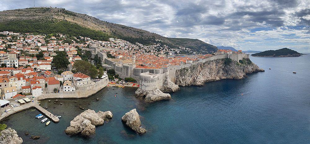 Uitzicht op de oude stad Dubrovnik