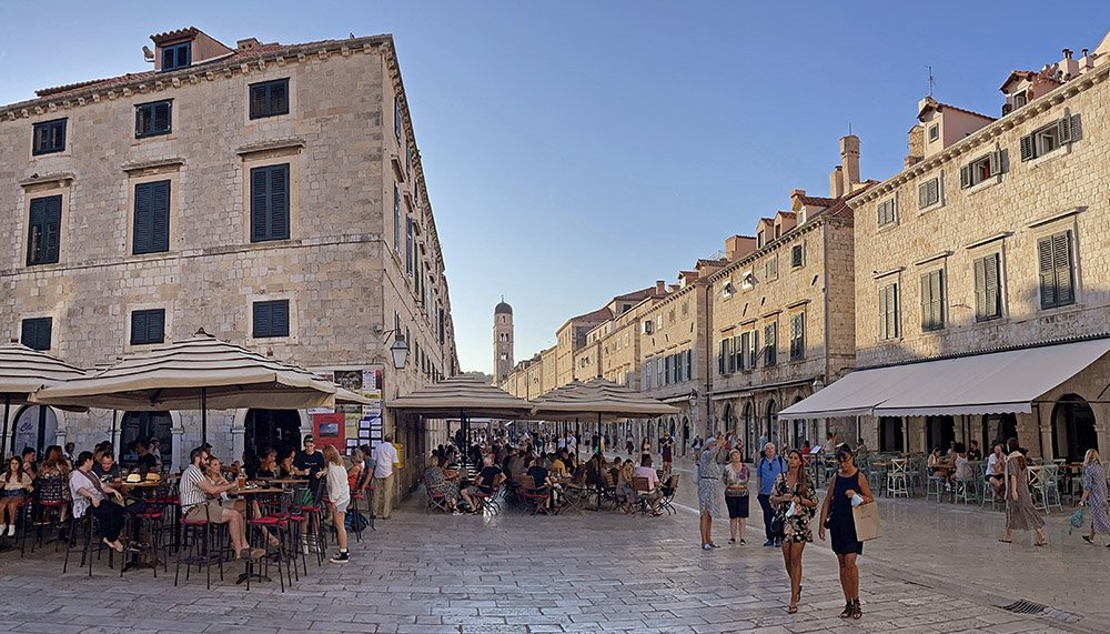 Terrassen in Dubrovnik