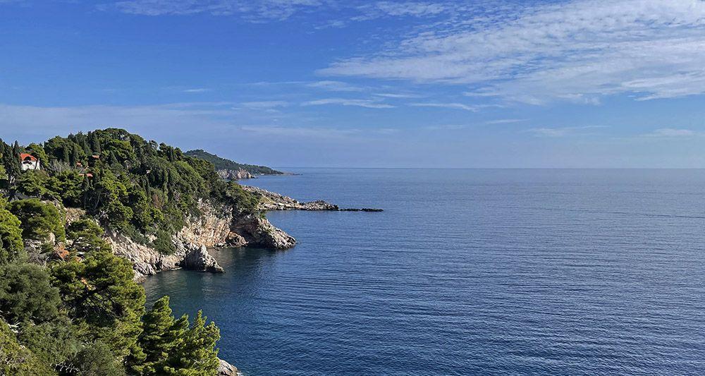 De zee bij Dubrovnik